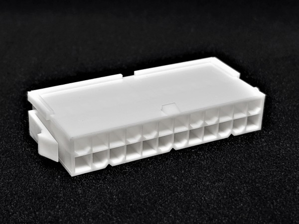 24 Pin ATX Male Connector - white