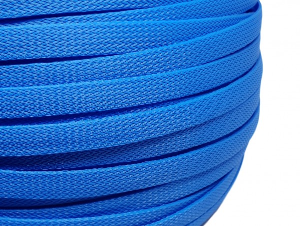 12mm Geflechtschlauch PET Sleeve *Royal Blue*