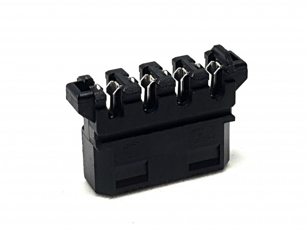4 Pin MOLEX Push-Style Connector - black