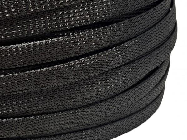 12mm Geflechtschlauch PET Sleeve *Black Widow*