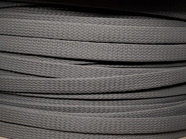 12mm Geflechtschlauch PET Sleeve *Steel Grey*