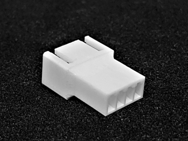 4 Pin Male FAN Connector - white