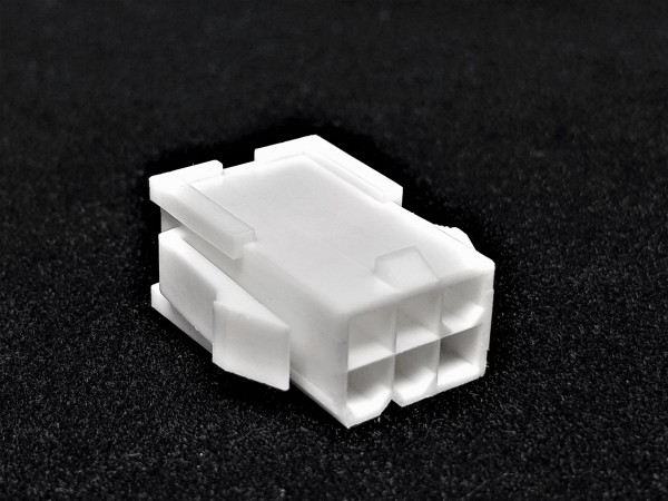 6 Pin PCIe Male Connector - white
