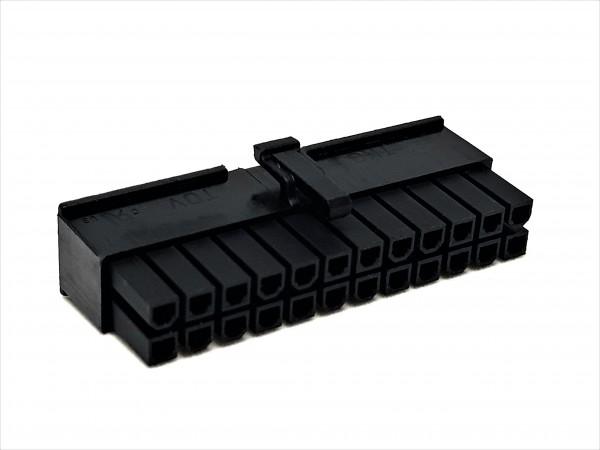 24 Pin ATX Female Connector - black
