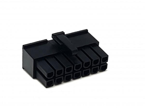 14 Pin ATX Female Connector - black