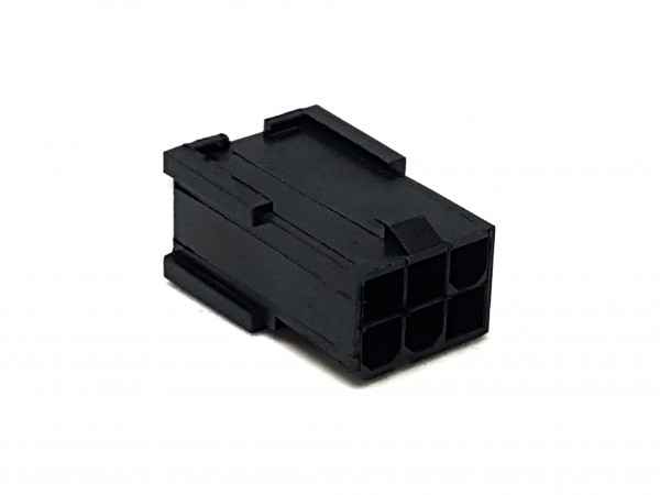 6 Pin PCIe Male Connector - black