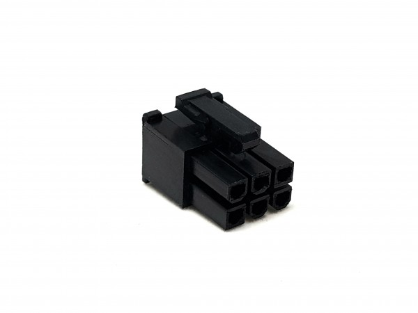 6 Pin PCIe Female Connector - black