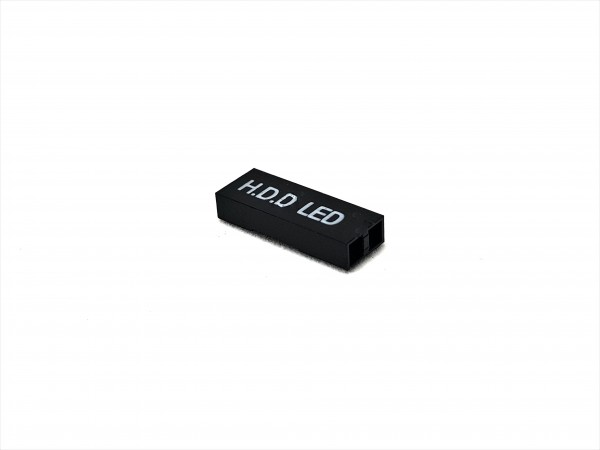 2 Pin HDD LED Connector - black