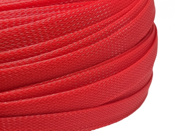 18mm Geflechtschlauch PET Sleeve *Red Pepper*