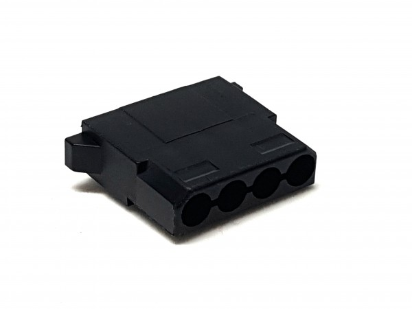 4 Pin MOLEX Female Connector - black