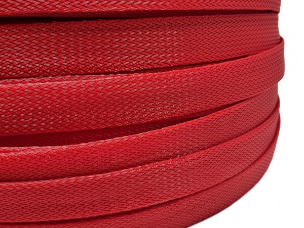 18mm Geflechtschlauch PET Sleeve *Blood Red*