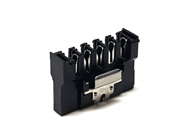 SATA Push-Style with Lock Connector - black