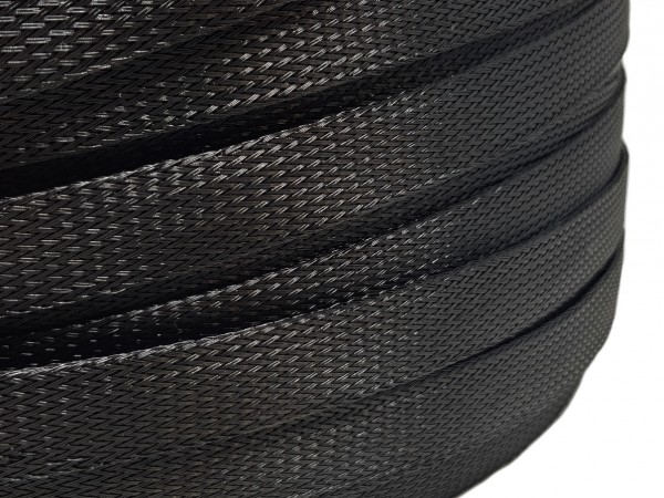 18mm Geflechtschlauch PET Sleeve *Black Widow*
