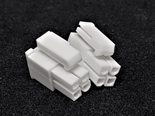 8 (4+4) Pin EPS/CPU Female Connector - white