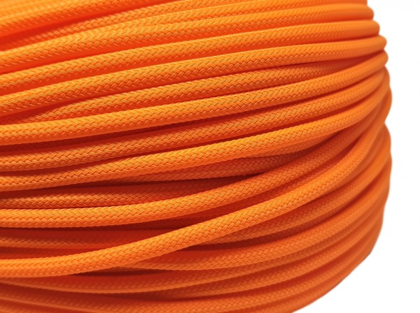 4mm Geflechtschlauch PET Sleeve *Juicy Orange*