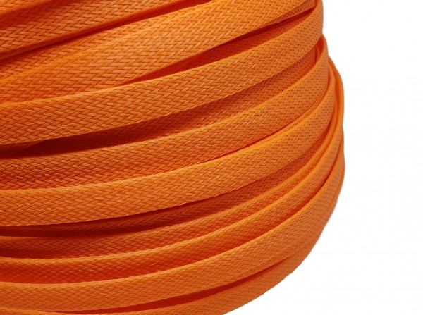 12mm Geflechtschlauch PET Sleeve *Juicy Orange*