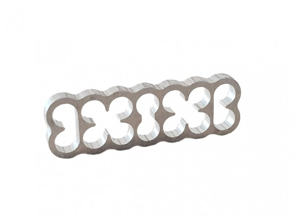 BD Aluminium Cable Combs 14 Pin - natural silver