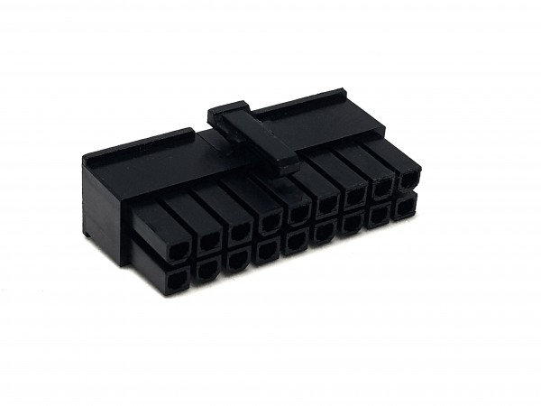 18 Pin ATX Female Connector - black