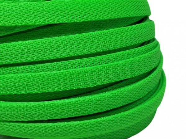 12mm Geflechtschlauch PET Sleeve *Apple Green*