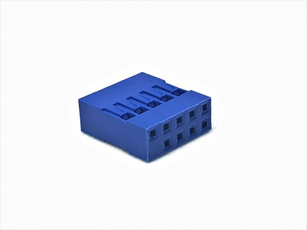 10 Pin USB Connector - blue