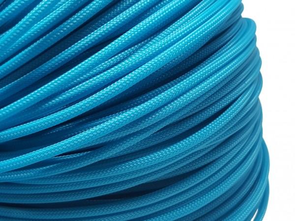 4mm Geflechtschlauch PET Sleeve *Ocean Blue*