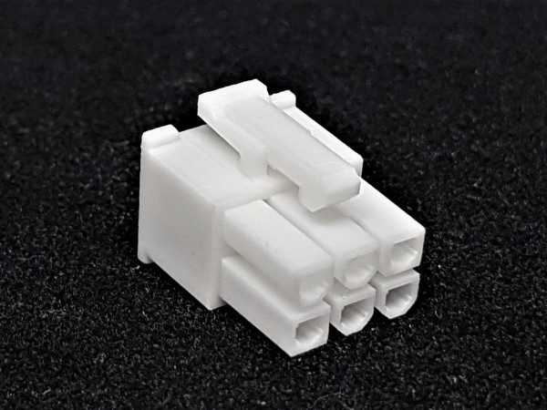 6 Pin PCIe Female Connector - white