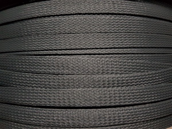 12mm Geflechtschlauch PET Sleeve *Dark Platinum*