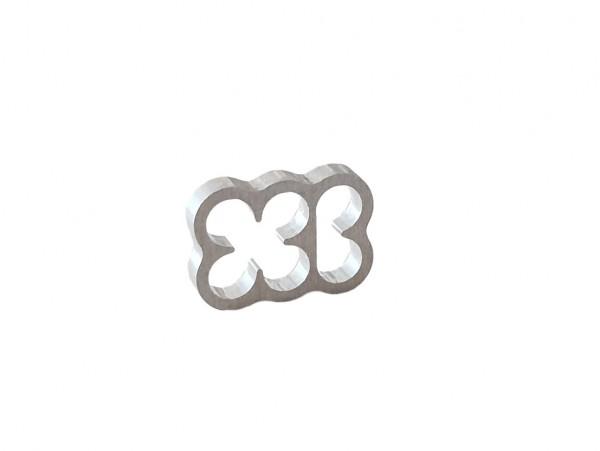 BD Aluminium Cable Combs 6 Pin - natural silver