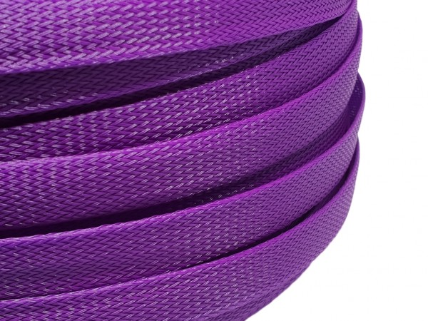 18mm Geflechtschlauch PET Sleeve *Mulberry Purple*