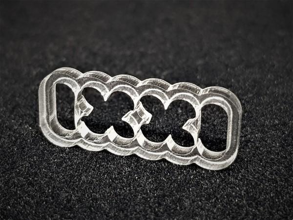 BD Plastic Cable Combs closed 12 Pin V2 - transparent