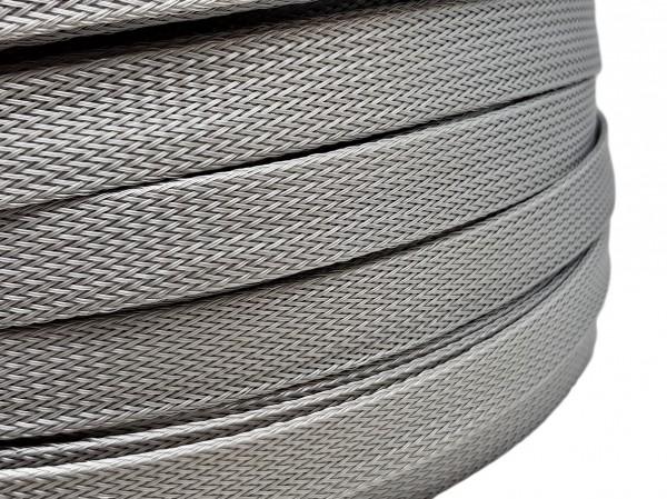 18mm Geflechtschlauch PET Sleeve *Silverstar*