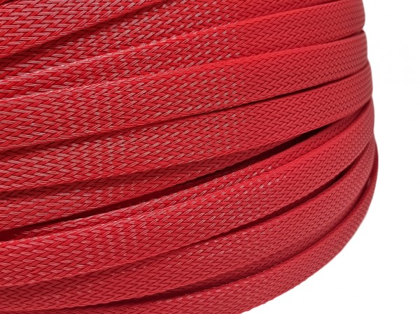 12mm Geflechtschlauch PET Sleeve *Blood Red*