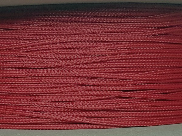 2mm Geflechtschlauch PET Sleeve *Wine Red*