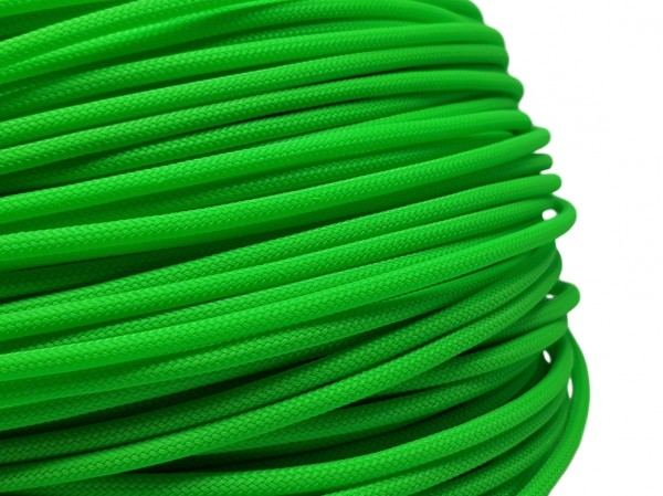 4mm Geflechtschlauch PET Sleeve *Apple Green*