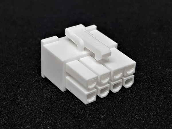 8 Pin PCIe Female Connector - white