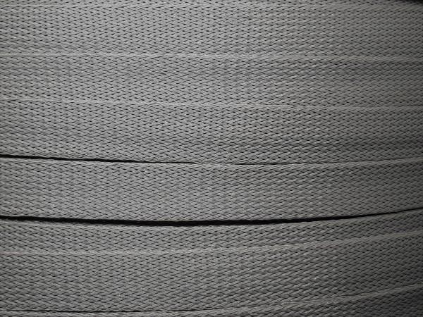 18mm Geflechtschlauch PET Sleeve *Steel Grey*