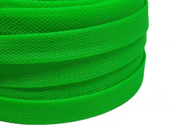 18mm Geflechtschlauch PET Sleeve *Apple Green*