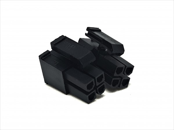 8 (4+4) Pin EPS/CPU Female Connector - black