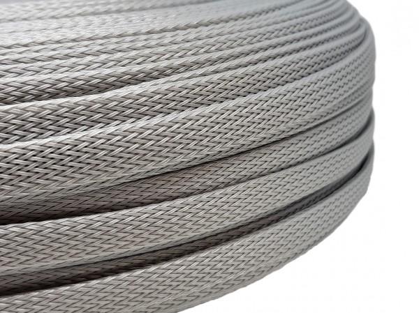 12mm Geflechtschlauch PET Sleeve *Silverstar*