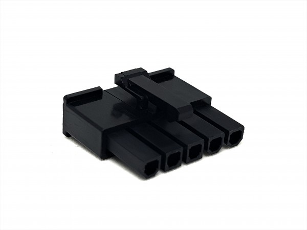 5 Pin Power Top Lock PSU Connector - black