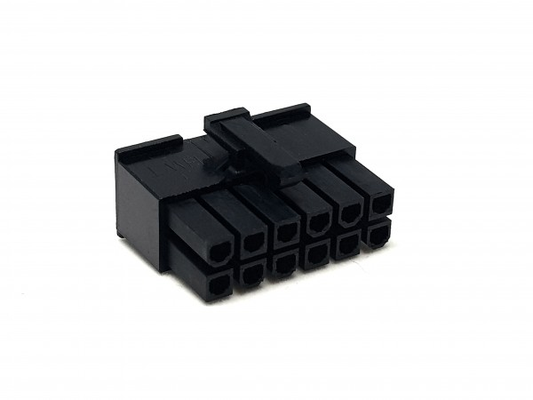12 Pin ATX Female Connector - black