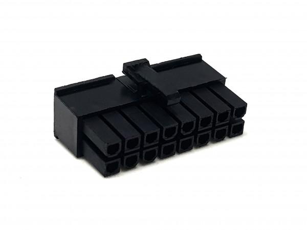 16 Pin ATX Female Connector - black