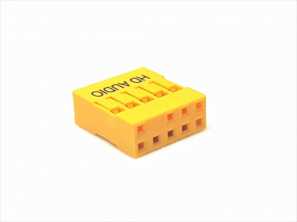 10 Pin AUDIO HD Connector - yellow