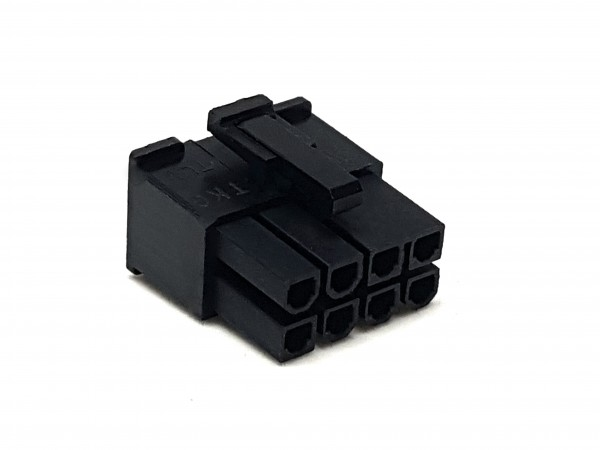8 Pin PCIe Female Connector - black